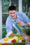 Kitchen activities Royalty Free Stock Photo
