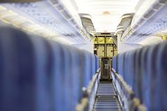 Kitchen of the airplane Stock Photography