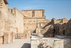 Kitchen in Ancient Home of Pompeii Stock Photography