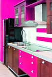 Kitchen angle pink Royalty Free Stock Photo
