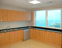 Kitchen in the apartment of luxury hotel Royalty Free Stock Images