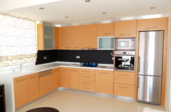 Kitchen in the apartment of luxury hotel Stock Image