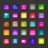 Kitchen aplliance vector icons. Kitchen and home aplliance vector icons Royalty Free Stock Images