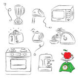 Kitchen appliance. Vector illustration of Kitchen appliance Royalty Free Stock Photography