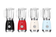 Kitchen Appliance Concept. Modern Multicolour Electric Blenders. Stock Images