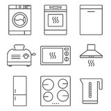 Kitchen appliance icons Stock Photography