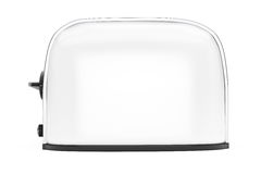 Kitchen Appliance. Vintage White Toaster Stock Image
