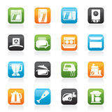 Kitchen appliances  and equipment icons Stock Image