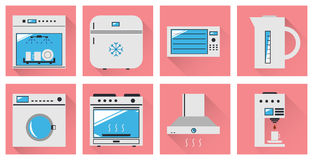 Kitchen appliances flat icon Stock Photos