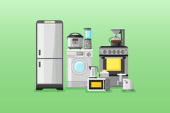 Kitchen appliances horizontal banners Stock Images