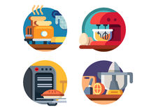 Kitchen appliances icons Royalty Free Stock Photography