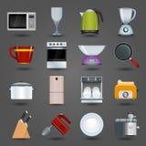 Kitchen appliances icons stock illustration