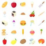 Kitchen appliances icons set, cartoon style Royalty Free Stock Photo