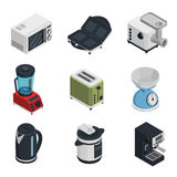 Kitchen Appliances Icons Set Royalty Free Stock Photo