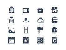 Kitchen appliances icons. Set. Lyra series royalty free illustration