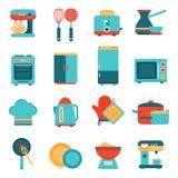 Kitchen appliances icons set Stock Images