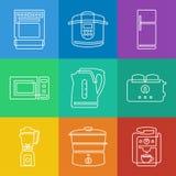 Kitchen appliances icons Stock Photo