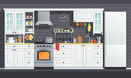 Kitchen appliances illustration Royalty Free Stock Photography
