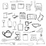 Kitchen appliances, kitchen symbols Royalty Free Stock Photo