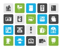 Kitchen appliances and kitchenware icons. Vector icon set vector illustration