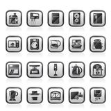 Kitchen appliances and kitchenware icons Royalty Free Stock Photography