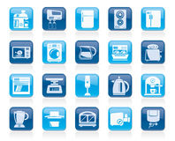 Kitchen appliances and kitchenware icons Royalty Free Stock Image