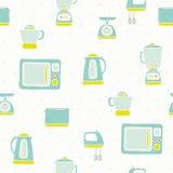 Kitchen appliances pattern. Vector EPS 10 hand drawn kitchen appliances seamless pattern vector illustration