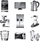 Kitchen appliances  set Stock Photography