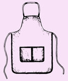 Kitchen apron Royalty Free Stock Image