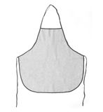 Kitchen apron. Front view. Isolated on a white background. Stock Photography