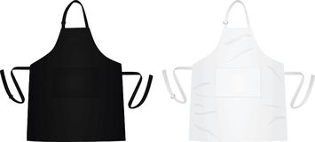 Kitchen apron white and black Stock Images