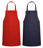 Kitchen apron on white + clipping path. Royalty Free Stock Photo