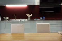 Kitchen area stock photo