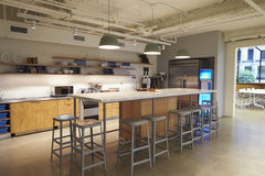 Kitchen area in corporate business cafeteria, Los Angeles Stock Images