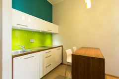 Kitchen area in a flat Royalty Free Stock Image