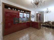 Kitchen in the Art Deco style Royalty Free Stock Photo