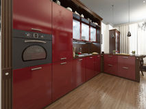 Kitchen in the Art Deco style Stock Photos