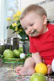 Kitchen baby Stock Photos