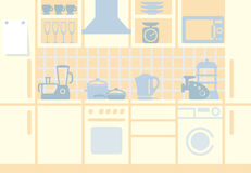 Kitchen background Stock Image
