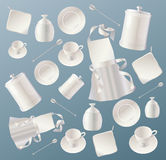 Kitchen background with dishes. Kitchen background with Kitchen Stuff Stock Images