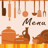 Kitchen background for menu cover Stock Photos