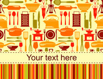 Kitchen background with place for text Royalty Free Stock Images