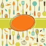Kitchen Background. Seamless bakcground with kitchen utensil Royalty Free Stock Photo