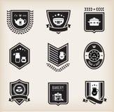Kitchen badges. Vector set of kitchen badges Stock Image