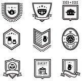 Kitchen badges Stock Image