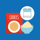 Kitchen bakery concept box mix cookie Stock Photography