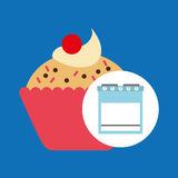 Kitchen bakery concept cupcake cherry Royalty Free Stock Photo