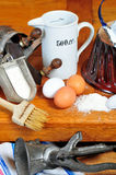 Kitchen baking ingredients Stock Photos