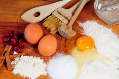 Kitchen baking ingredients Stock Photo
