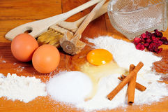 Kitchen baking ingredients Royalty Free Stock Photo